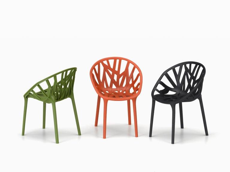 Swiss Vitra Vegetal Chair in Brick by Ronan & Erwan Bouroullec
