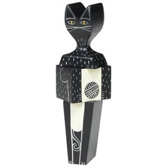 Vitra Wooden Doll Cat Small by Alexander Girard