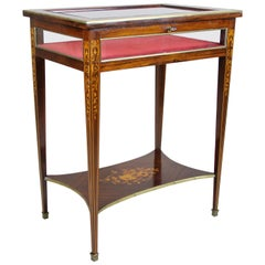 Vitrine Table with Inlay Work Early 20th Century, Italy, circa 1900