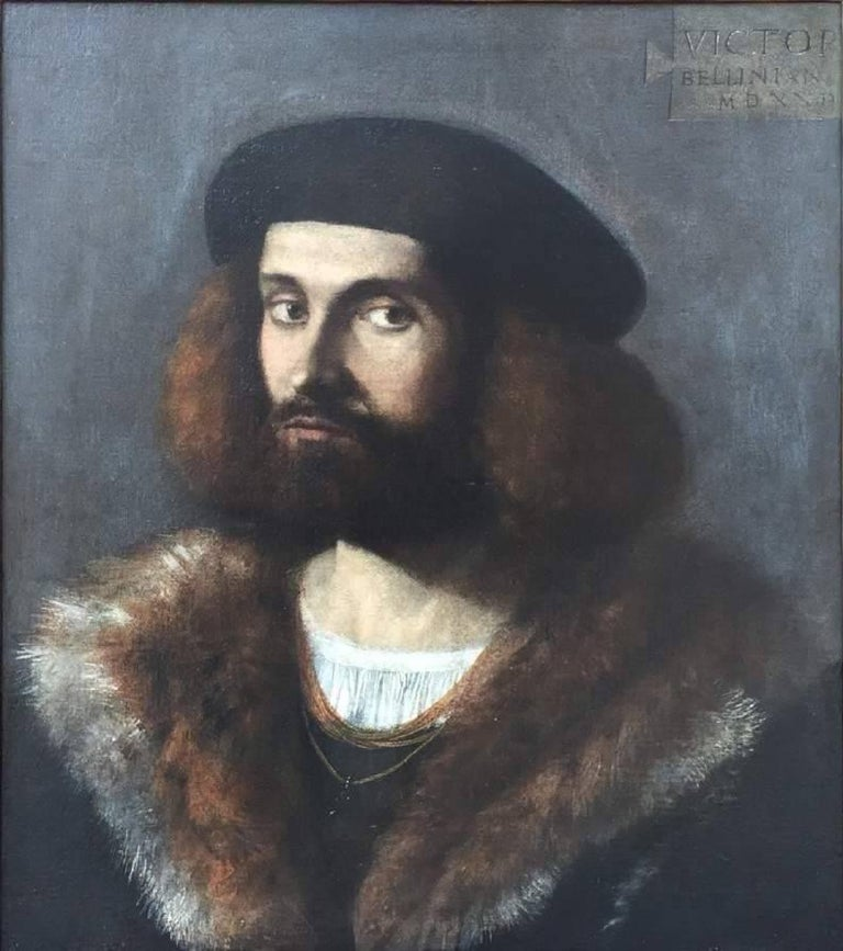 Renaissance Old Master Portrait of a Young Bearded Man For Sale 2