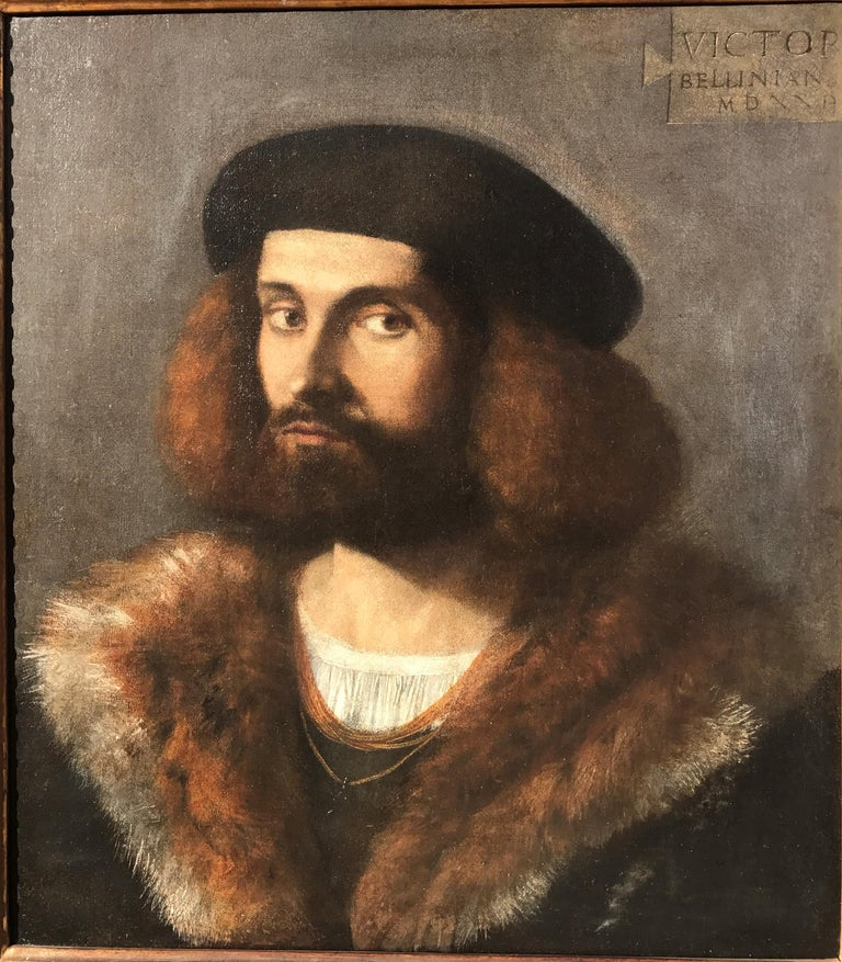 Renaissance Old Master Portrait of a Young Bearded Man For Sale 5