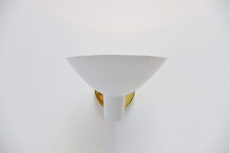 Cold-Painted Vittoriano Vigano Sconces Model 2 Arteluce, Italy, 1950 For Sale