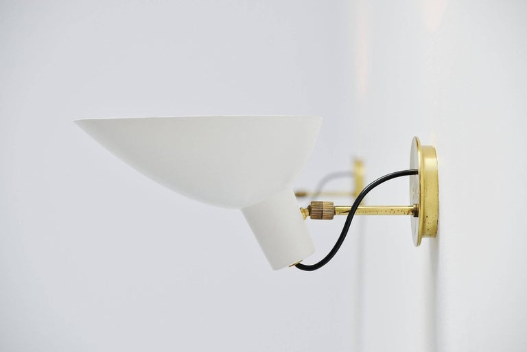Vittoriano Vigano Sconces Model 2 Arteluce, Italy, 1950 In Excellent Condition For Sale In Roosendaal, Noord Brabant