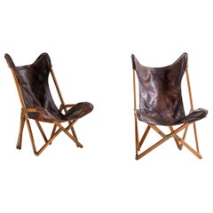 Vittoriano Viganò Set of Two Tripolina Armchairs, 1930s, Italy