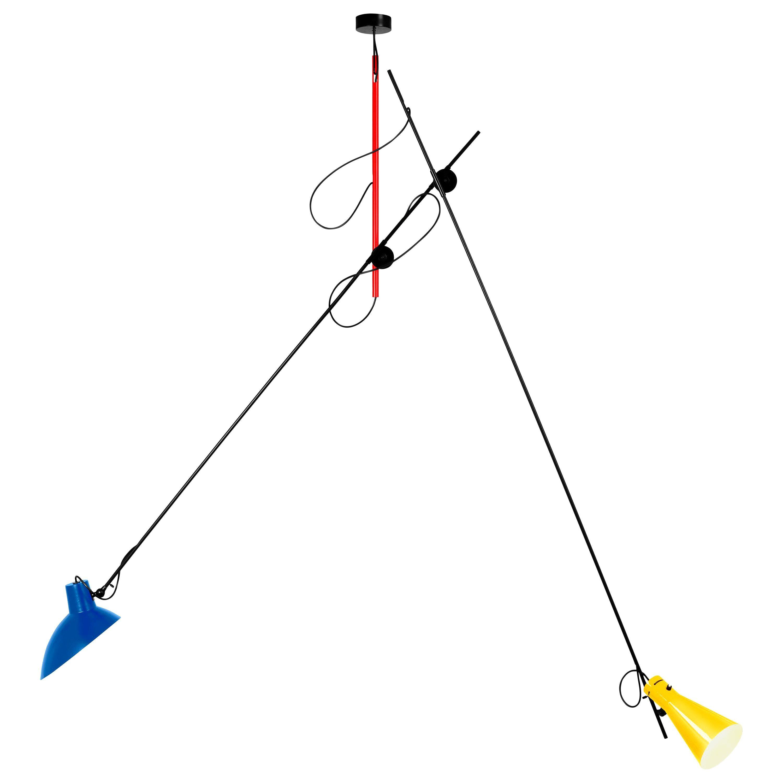 Vittoriano Viganò Special Mondrian Edition 'VV Suspension' Lamp