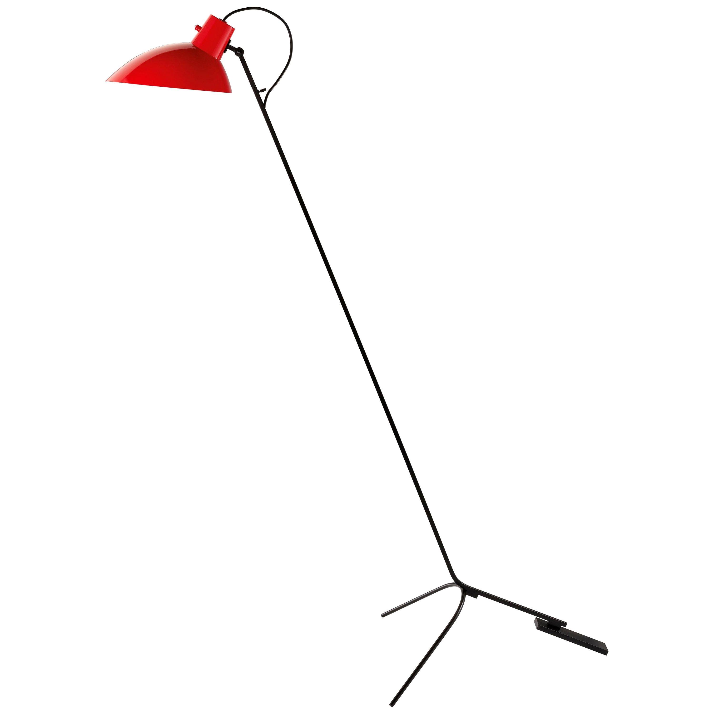 Vittoriano Viganò 'VV Cinquanta' Floor Lamp in Red