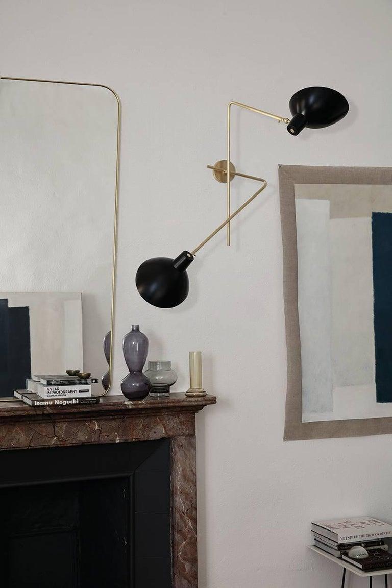 Italian Vittoriano Viganò 'VV Cinquanta Twin' Wall Lamp in Black For Sale