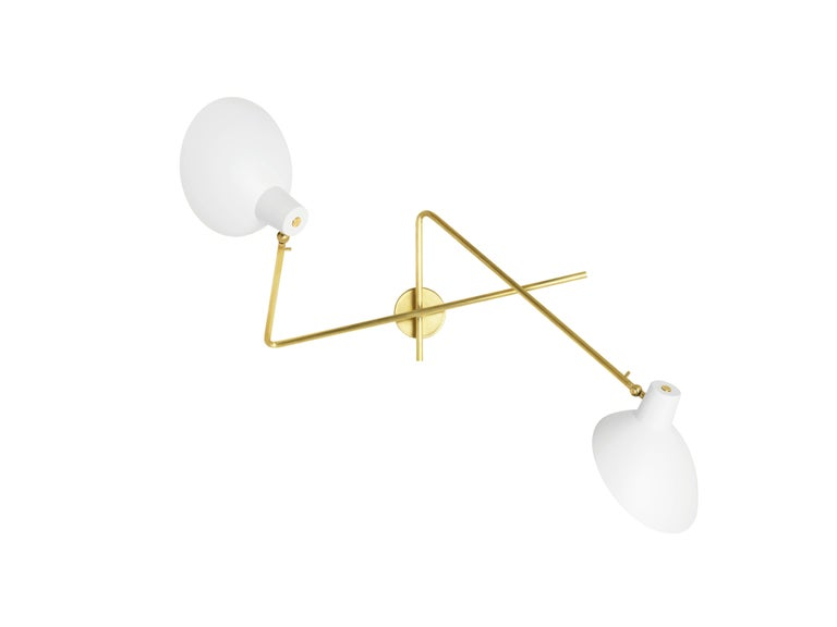 Vittoriano Viganò 'VV Cinquanta Twin' Wall Lamp in Black In Excellent Condition For Sale In Glendale, CA