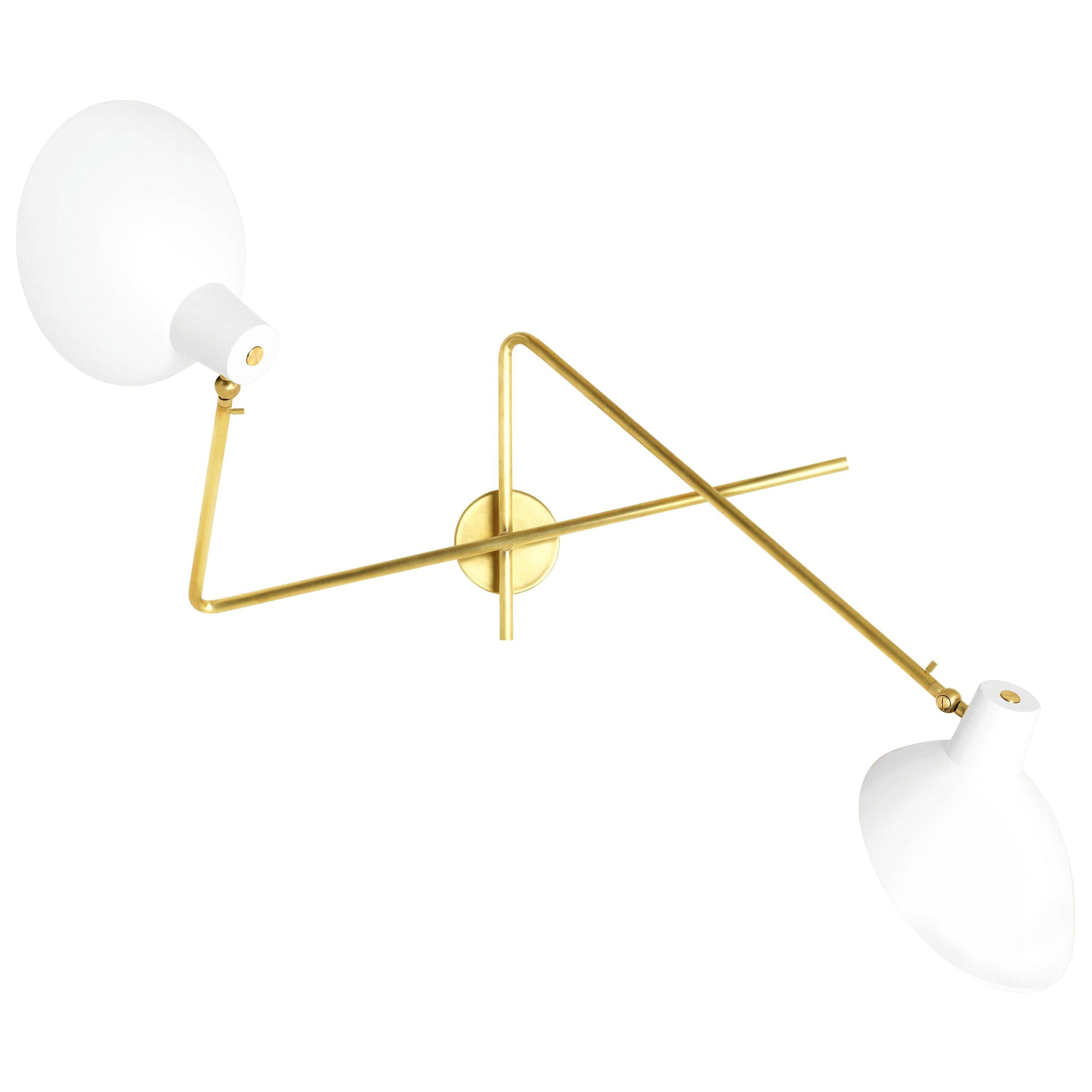 Vittoriano Viganò 'VV Cinquanta Twin' Wall Lamp in White