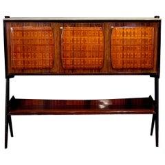 Vittorio Dassi Design Midcentury Sideboard or Bar Cabinet, 1950s
