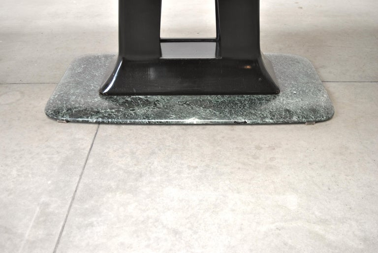 Vittorio Dassi Italian Art Deco Dining Table with Marble Base, 1940s For Sale 5