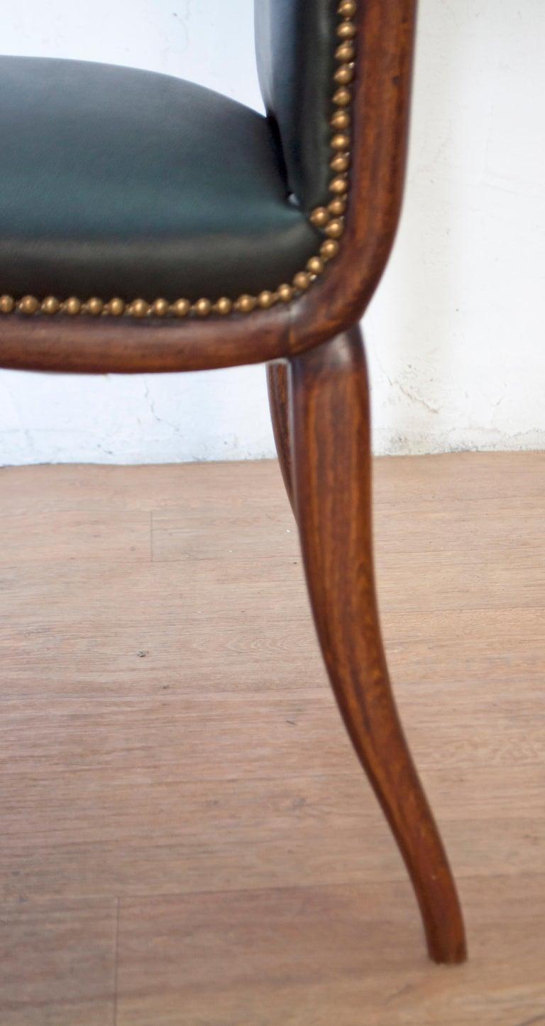 Vittorio Dassi Mid-Century Modern Italian Walnut Eight Dining Chairs, 1950s For Sale 12