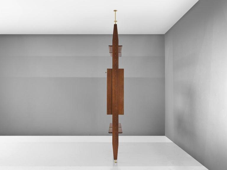 20th Century Vittorio Dassi Wall Unit in Walnut For Sale
