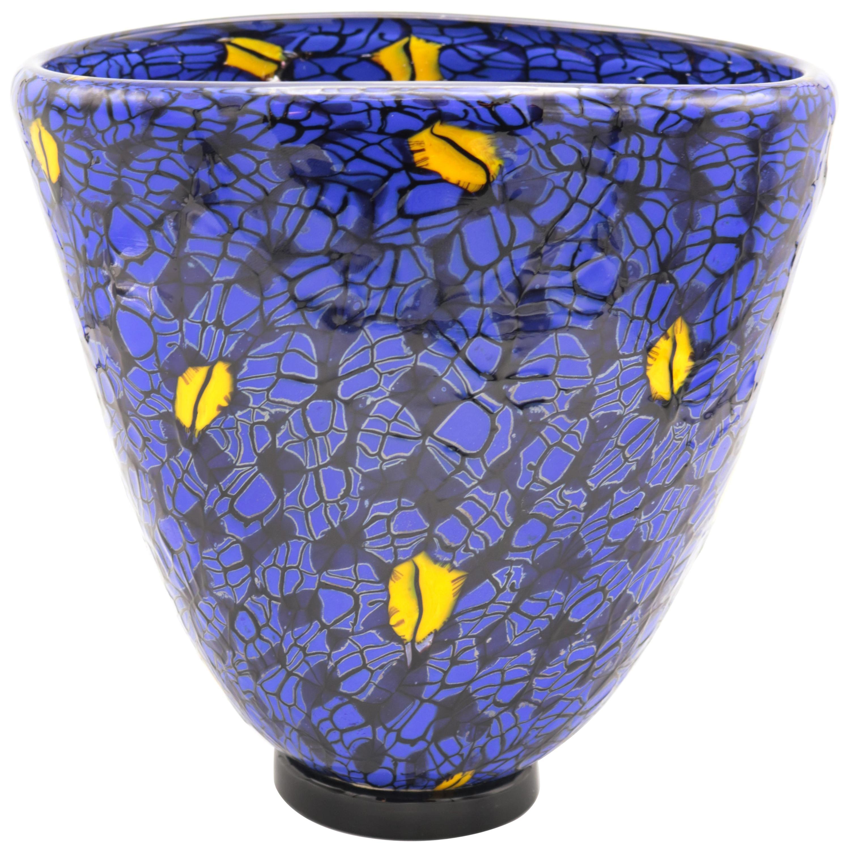Vittorio Ferro 'Murrina' Murano Glass Vase