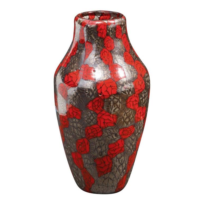 Modern Vittorio Ferro Vase with Unique Multicolor Murrine 1990s