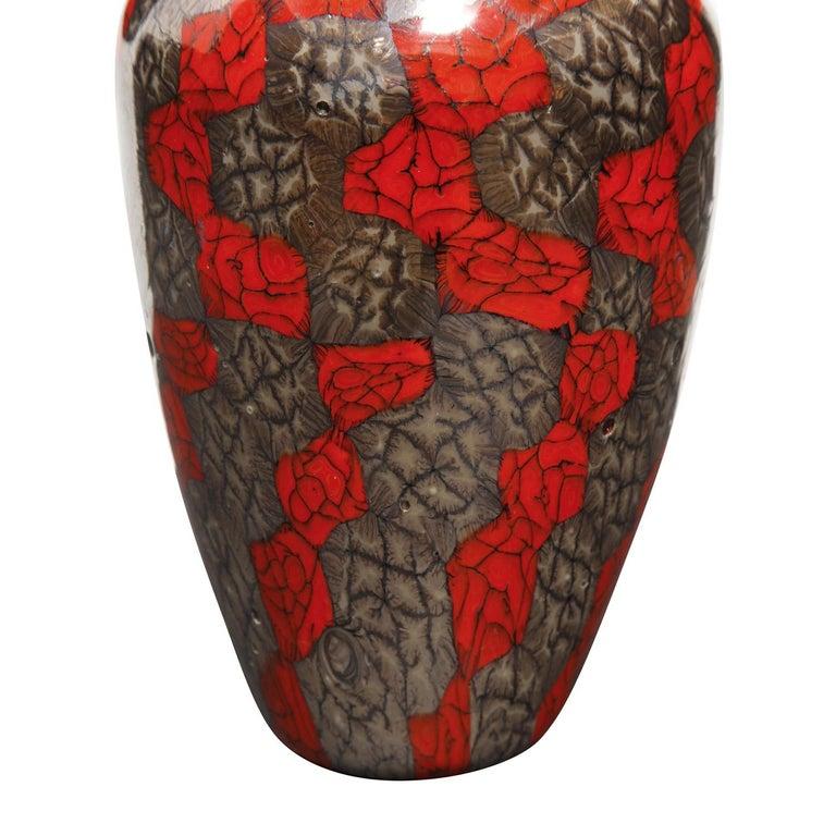 Hand-Crafted Vittorio Ferro Vase with Unique Multicolor Murrine 1990s