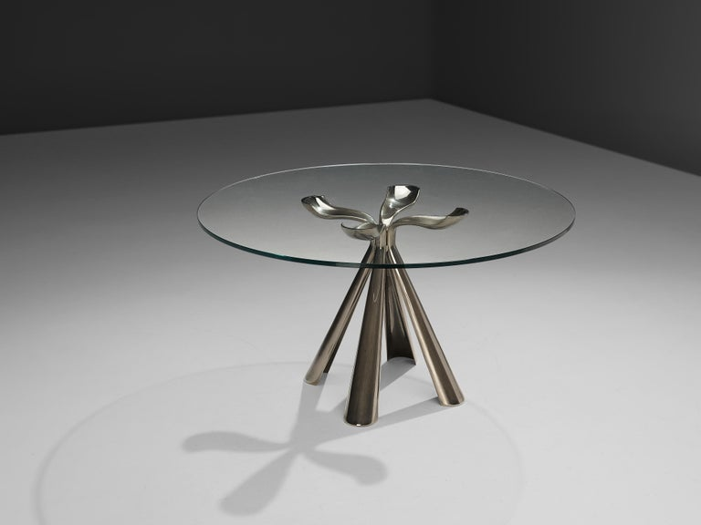 Vittorio Introini Dining Table and Ejvind A. Johansson 'Eye' Dining Chairs For Sale 4