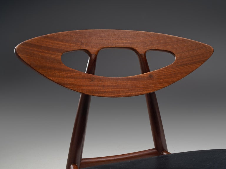 Vittorio Introini Dining Table and Ejvind A. Johansson 'Eye' Dining Chairs For Sale 6