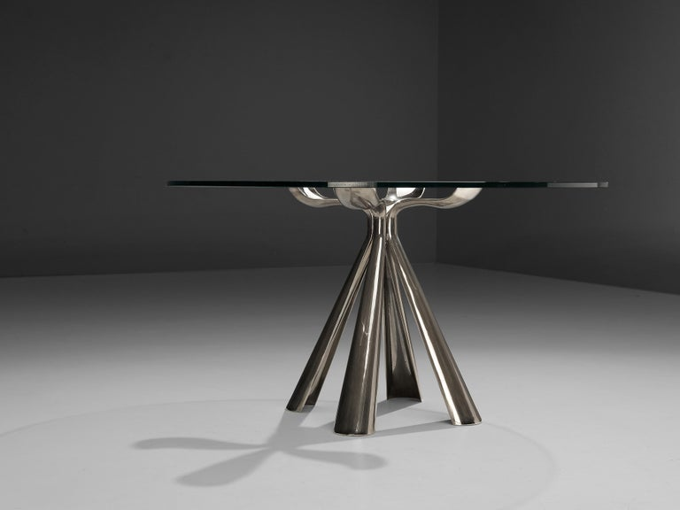 Vittorio Introini Dining Table and Ejvind A. Johansson 'Eye' Dining Chairs For Sale 8
