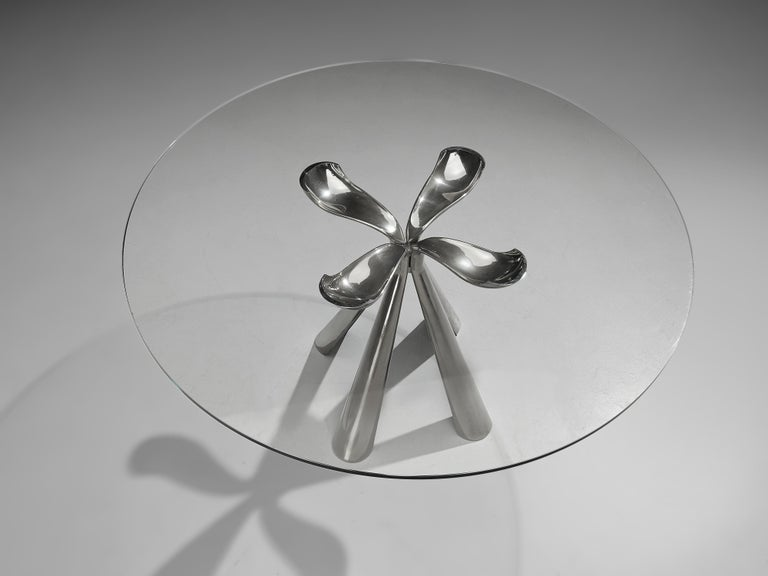 Vittorio Introini Dining Table and Ejvind A. Johansson 'Eye' Dining Chairs For Sale 11