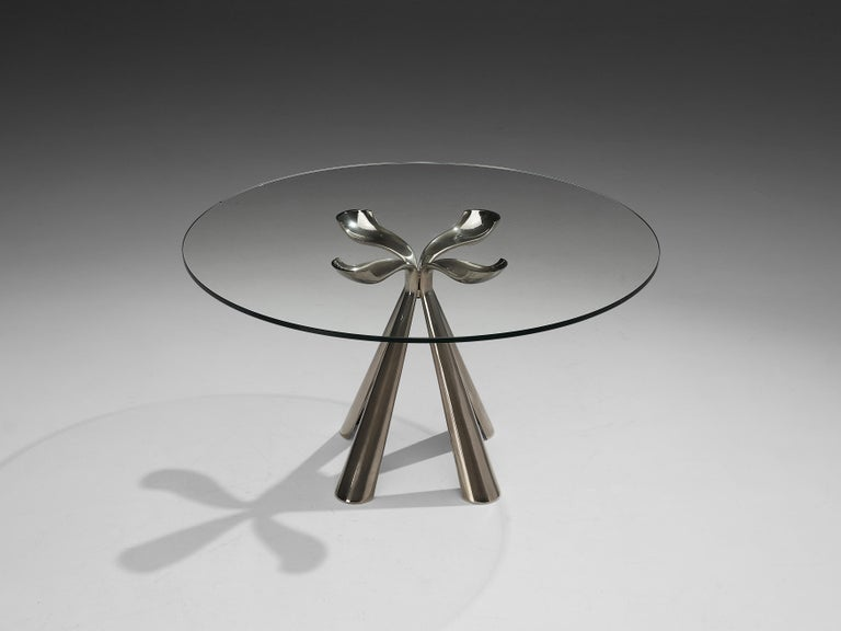 Vittorio Introini Dining Table and Ejvind A. Johansson 'Eye' Dining Chairs For Sale 2