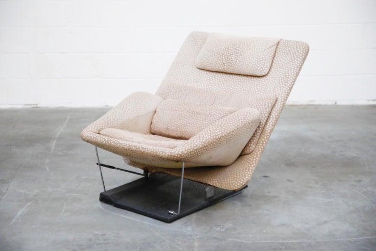 Vittorio Introini for Saporiti Italia Reclining Lounge Chair and Ottoman, 1970s For Sale 3