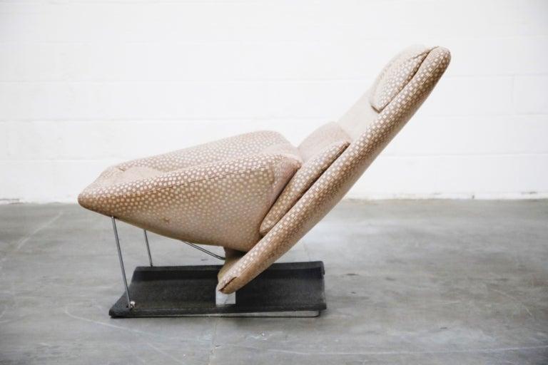 Vittorio Introini for Saporiti Italia Reclining Lounge Chair and Ottoman, 1970s For Sale 5