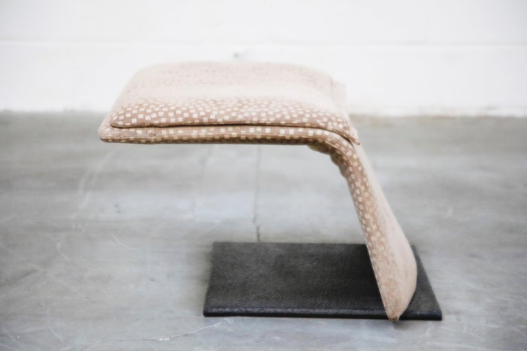 Vittorio Introini for Saporiti Italia Reclining Lounge Chair and Ottoman, 1970s For Sale 7
