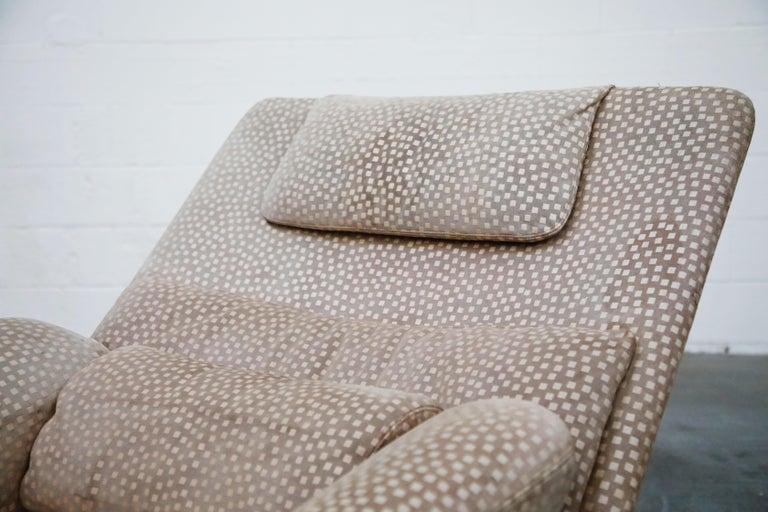 Vittorio Introini for Saporiti Italia Reclining Lounge Chair and Ottoman, 1970s For Sale 9