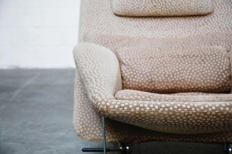 Vittorio Introini for Saporiti Italia Reclining Lounge Chair and Ottoman, 1970s For Sale 11