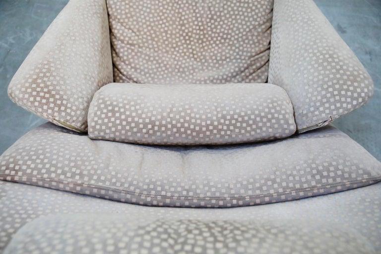 Vittorio Introini for Saporiti Italia Reclining Lounge Chair and Ottoman, 1970s For Sale 12