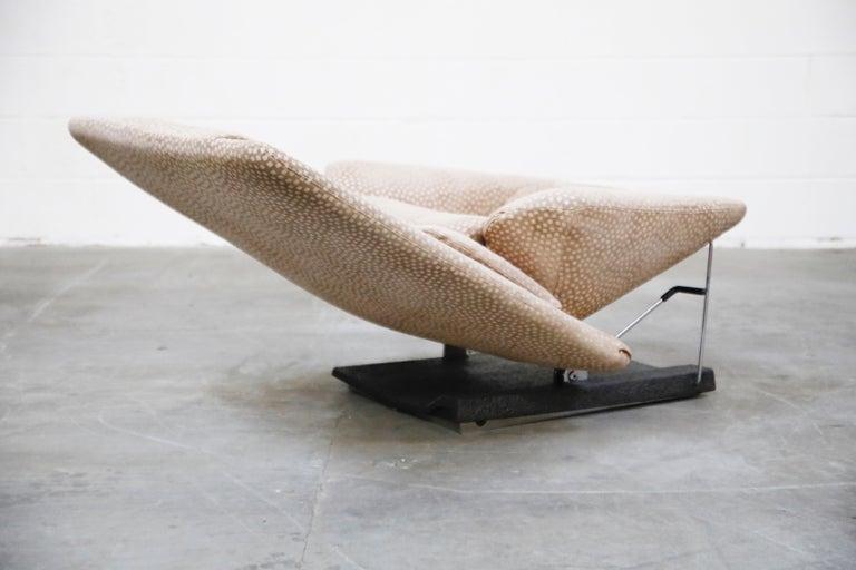 Vittorio Introini for Saporiti Italia Reclining Lounge Chair and Ottoman, 1970s For Sale 1
