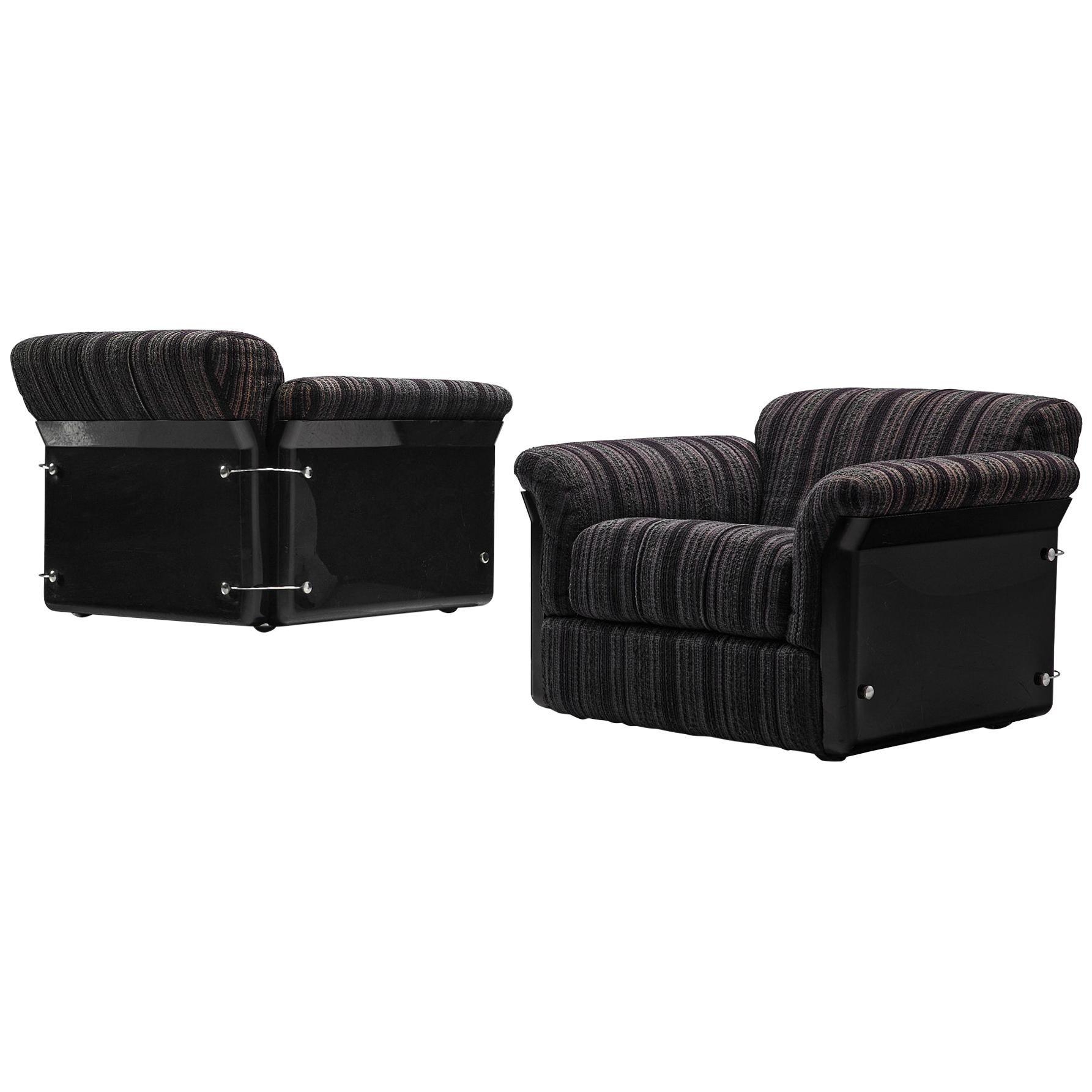 Vittorio Introini for Saporiti Pair of 'Larissa' Lounge Chairs