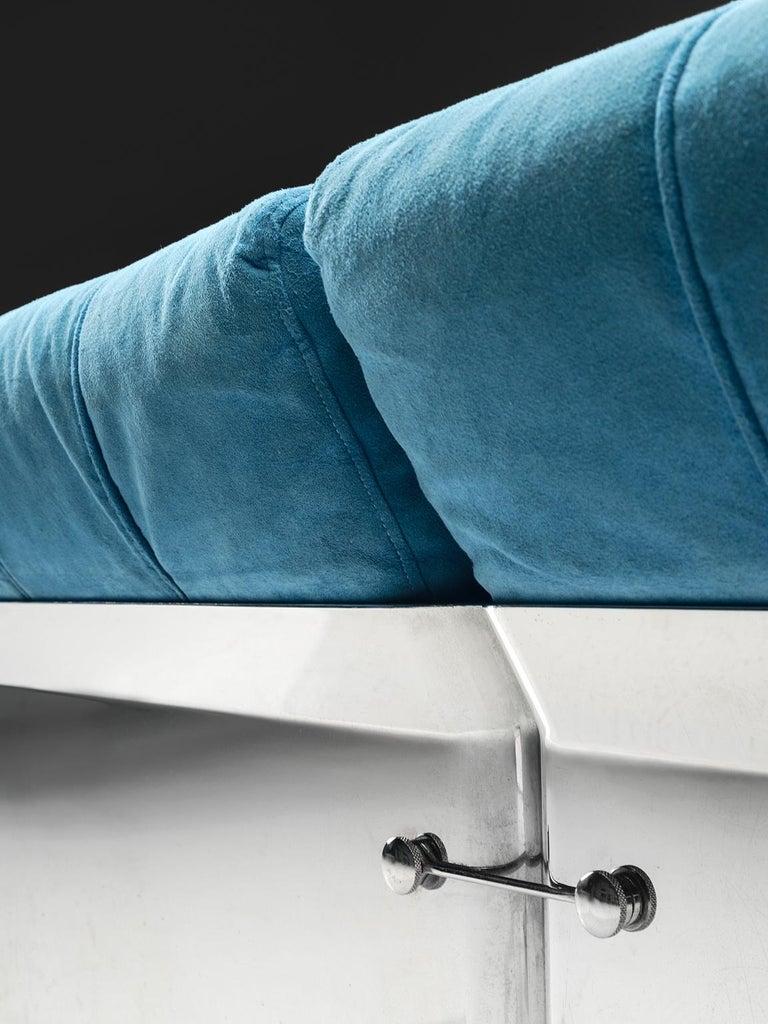 Suede Vittorio Introini 'Larissa' Sofa for Saporiti For Sale