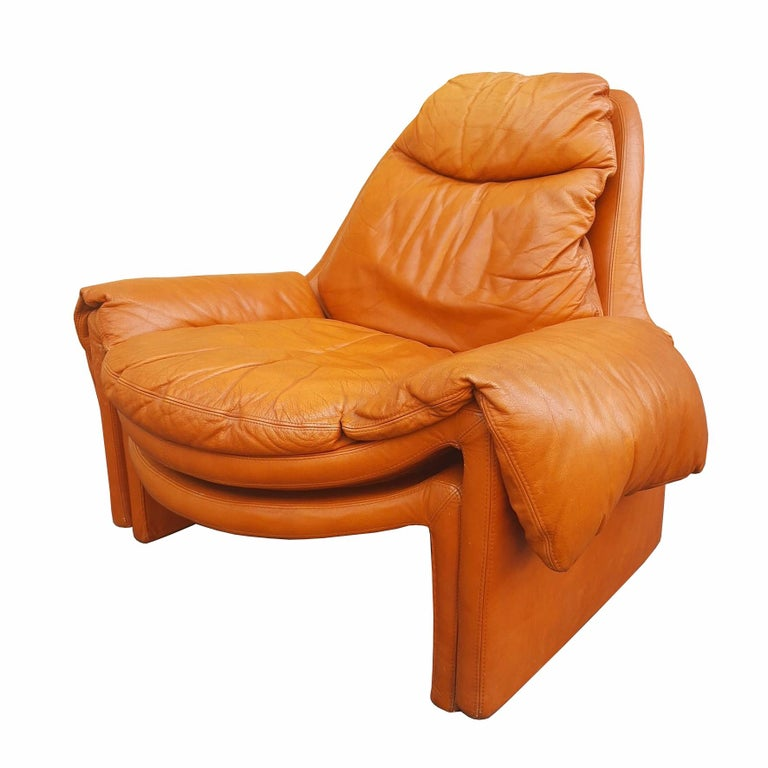 Dyed Vittorio Introini, P60, Armchair and Ottoman, La Proposals, 1969  For Sale