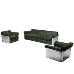 Vittorio Introini Pair of 'Larissa' Lounge Set for Saporiti