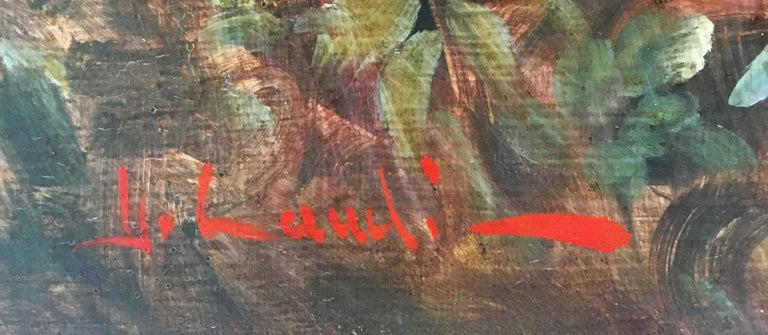 CAPRICCI LANDESCAPE -Roman School -  Italian Oil on Canvas Painting For Sale 10