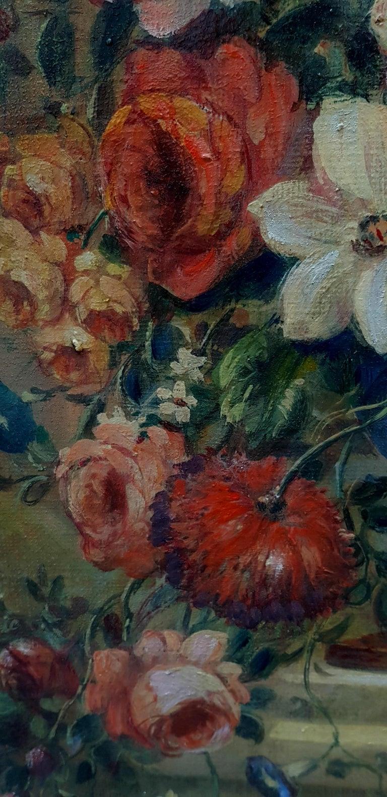 FLOWERS- In the Manner of  Gasparo Lopez dei Fiori - Neapolitan School - Paint For Sale 1