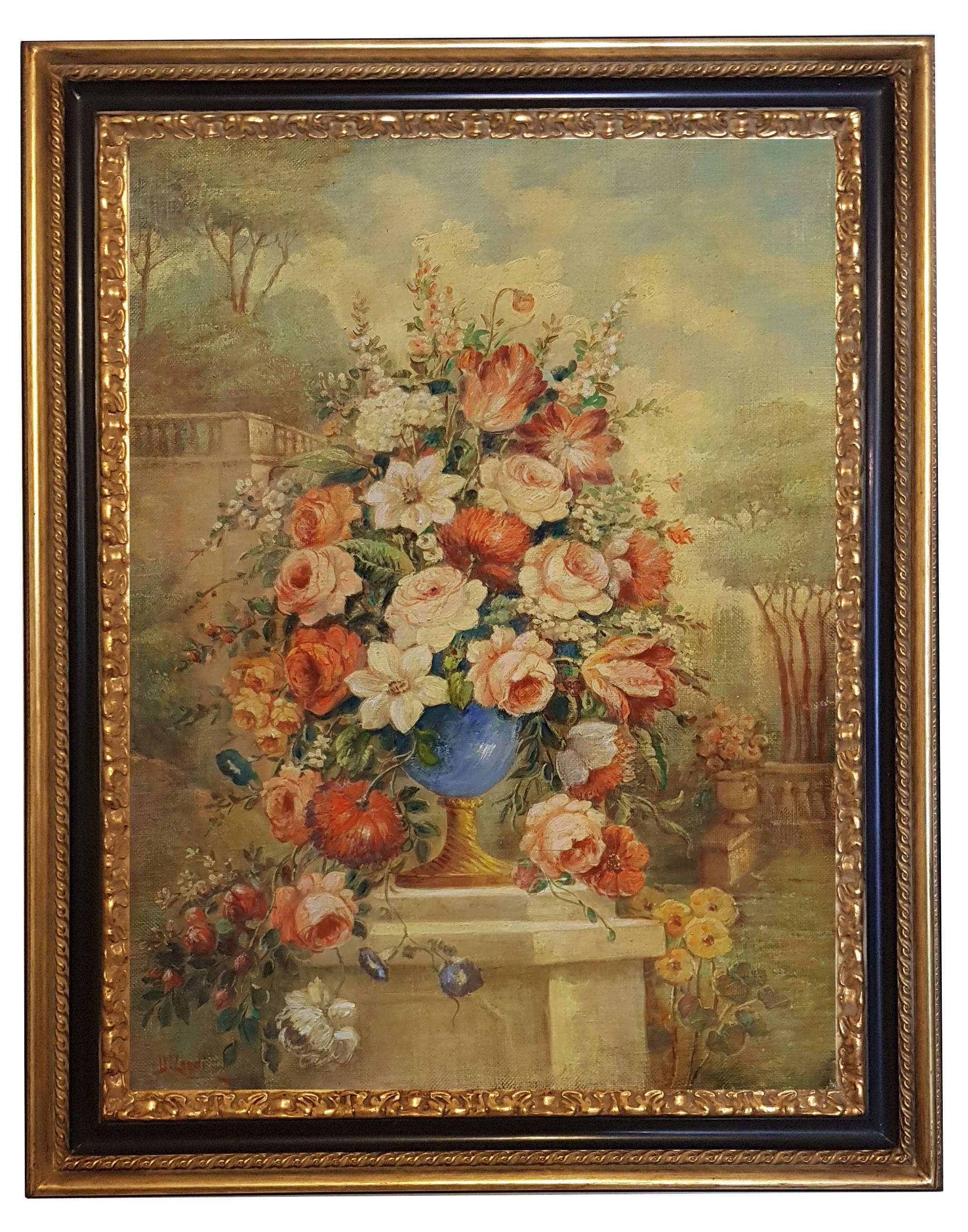 FLOWERS- In the Manner of  Gasparo Lopez dei Fiori - Neapolitan School - Paint