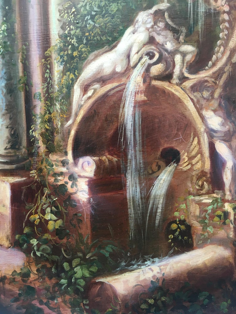 Landscape - Vittorio Landi Italian Oil on Canvas Painting For Sale 1