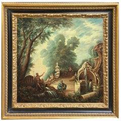 Landscape - Vittorio Landi Italian Oil on Canvas Painting