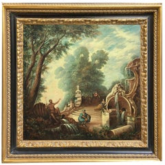 Landscape - Vittorio Landi Italian Oil on Canvas Painting