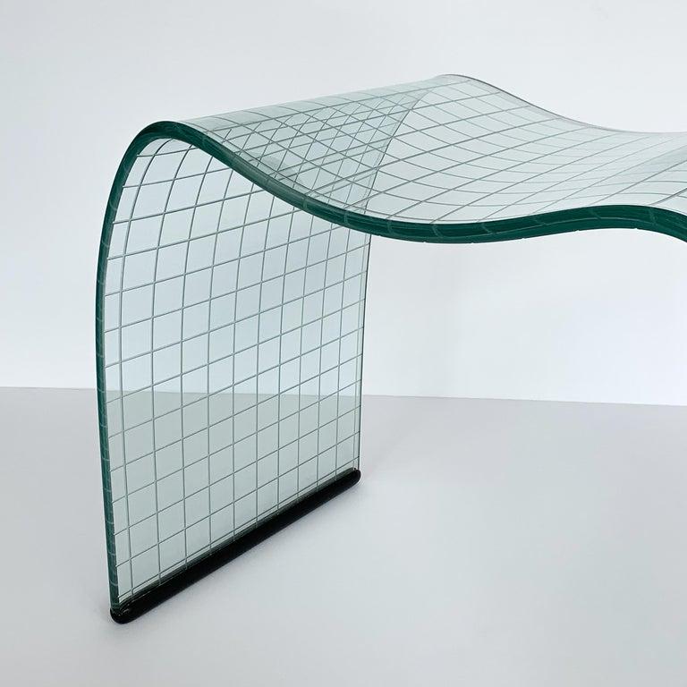 Vittorio Livi Onda Incisa Stool for Fiam For Sale 3