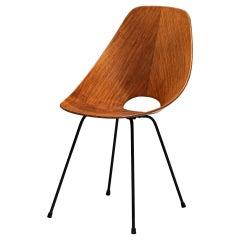 Vittorio Nobili for Tagliabue 'Medea' Chair in Teak and Mahogany