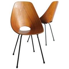 Vittorio Nobili Italian Wood Dining Chairs Medea for Fratelli Tagliabue, 1950s