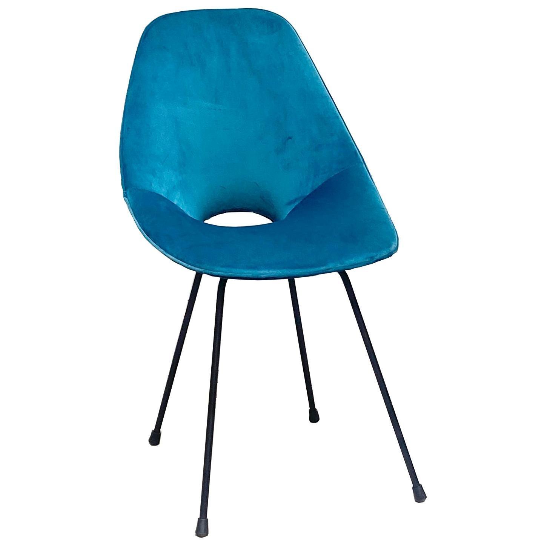 Vittorio Nobili, Medea Chair Green Velvet, 1956, Italy