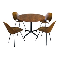 Vittorio Nobili Midcentury Teak Medea Dining Room Set with Table & Chairs, 1956