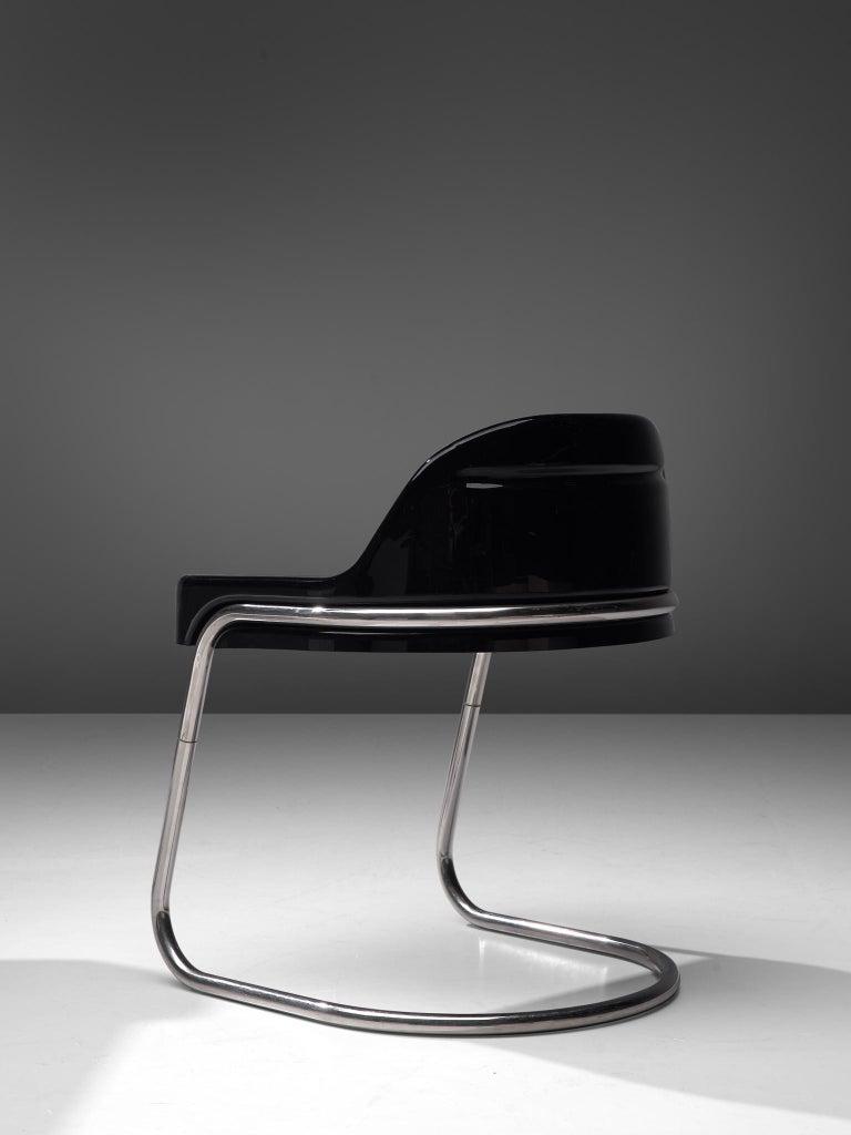 Vittorio Parigi & Nani Prina Black 'Orix 'Desk with Chair, 1970 3