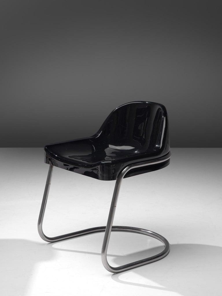 Vittorio Parigi & Nani Prina Black 'Orix 'Desk with Chair, 1970 4