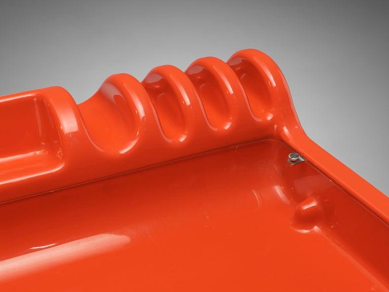 Metal Vittorio Parigi & Nani Prina Red 'Orix' Desk with Lamp For Sale